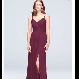 Rushed waist mesh dress bridesmaid dress